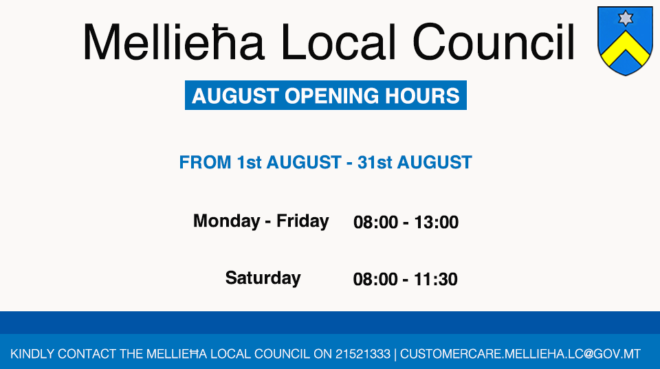 August Opening Hours