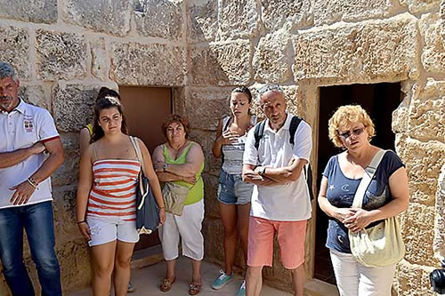 Delegates visiting various NGO's and historical places in Mellieha