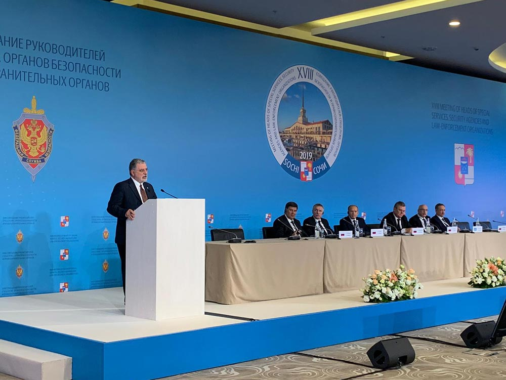 PAM addresses the Directors of national security services in Sochi