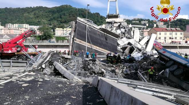 PAM CONDOLENCES GENOA BRIDGE - ITALY