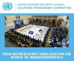 Counter Terrorism - PAM contributes to the UN revision of the Madrid Guiding Principles on Foreign Terrorist Fighters